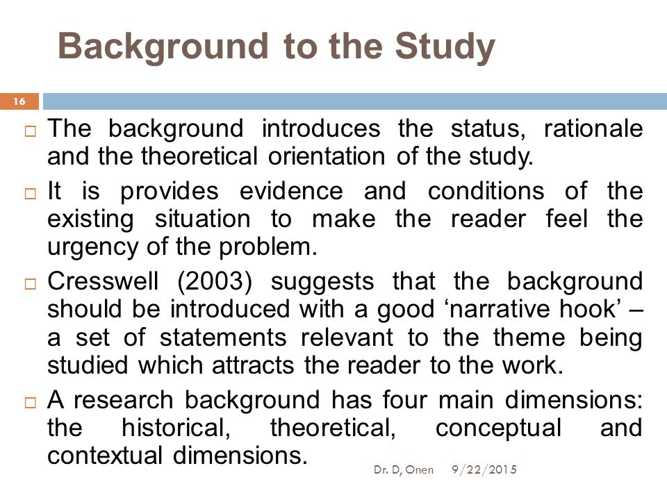 bachelor thesis theoretical background Writing the thesis pg 8 known about the problem, define the gap(s) in the knowledge, and state what needs to be done to address  given the background above,.
