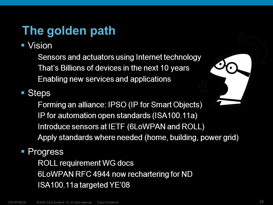 The golden path Vision Steps Progress