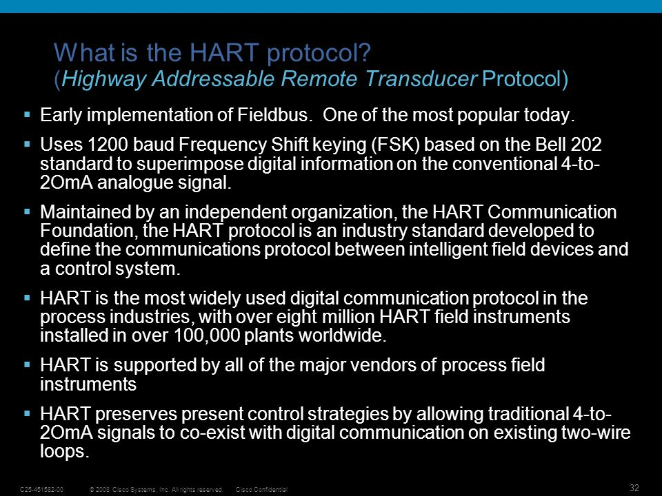 What is the HART protocol