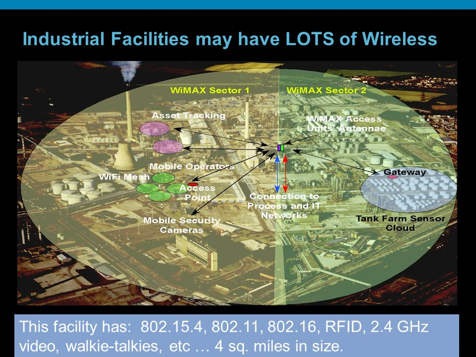 Industrial Facilities may have LOTS of Wireless