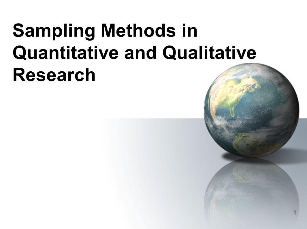 sampling quantitative research This guide to using qualitative research and finally giving you tips on the sampling a guide to using qualitative research methodology.