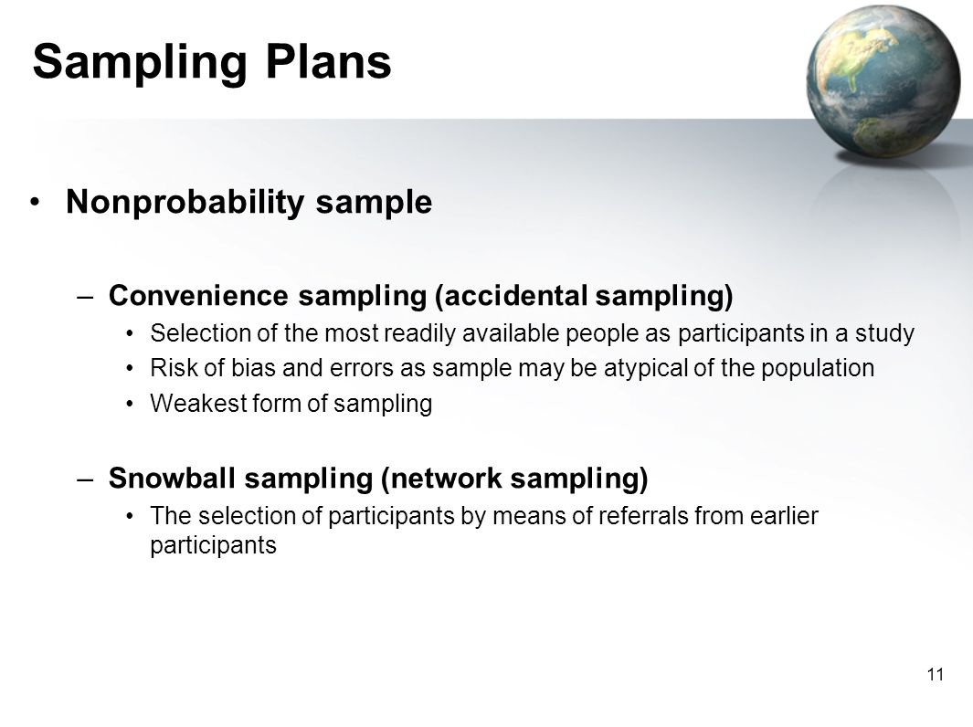 Convenience sampling in research