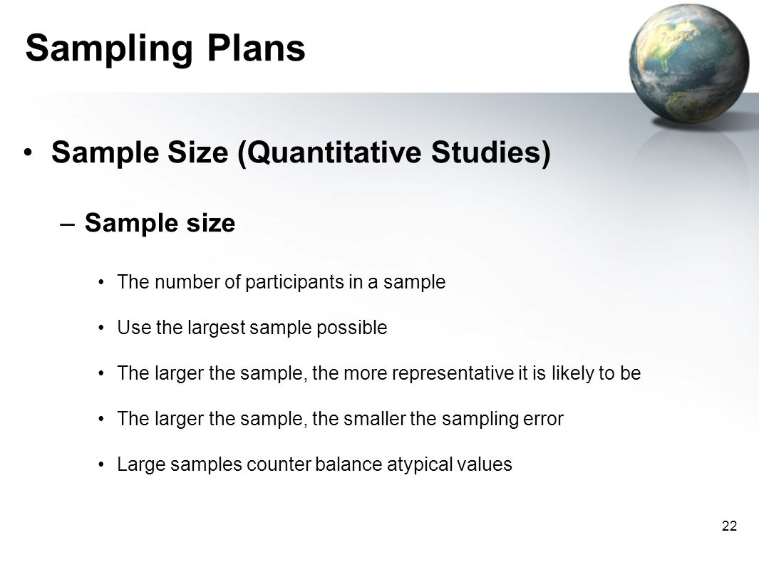 sampling methods in quantitative research Sampling in quantitative research typically follows random sampling procedures  (creswell, 2015) researchers calculate the required.