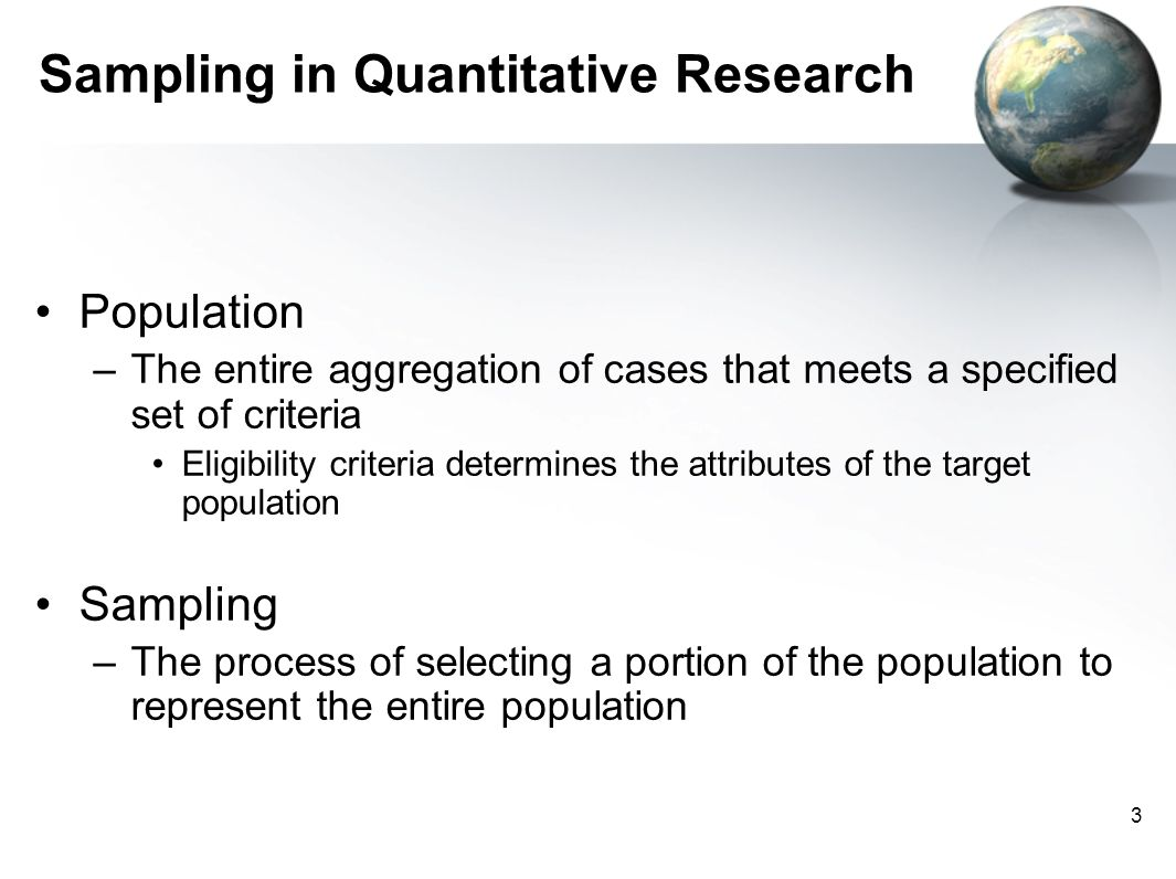 what is sampling in research methodology Underlying most methods are similar the determination of the sample size is  critical in planning clinical research because this is usually the.