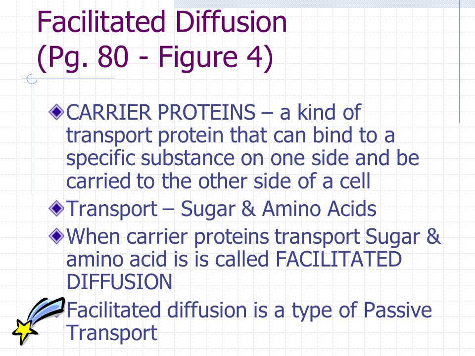 Facilitated Diffusion (Pg Figure 4)