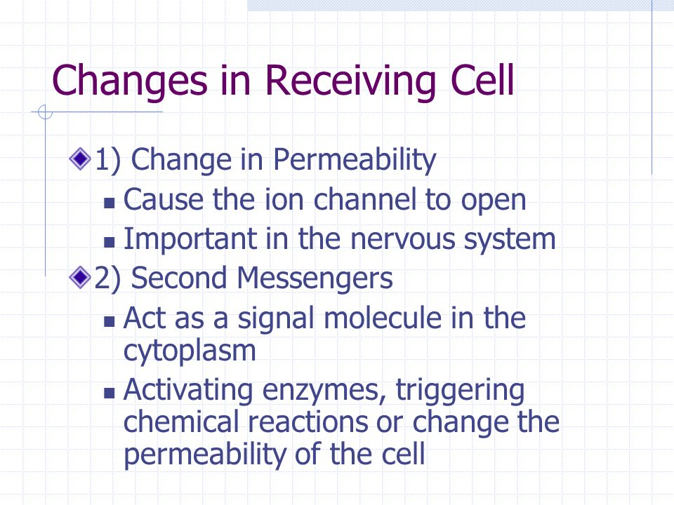Changes in Receiving Cell
