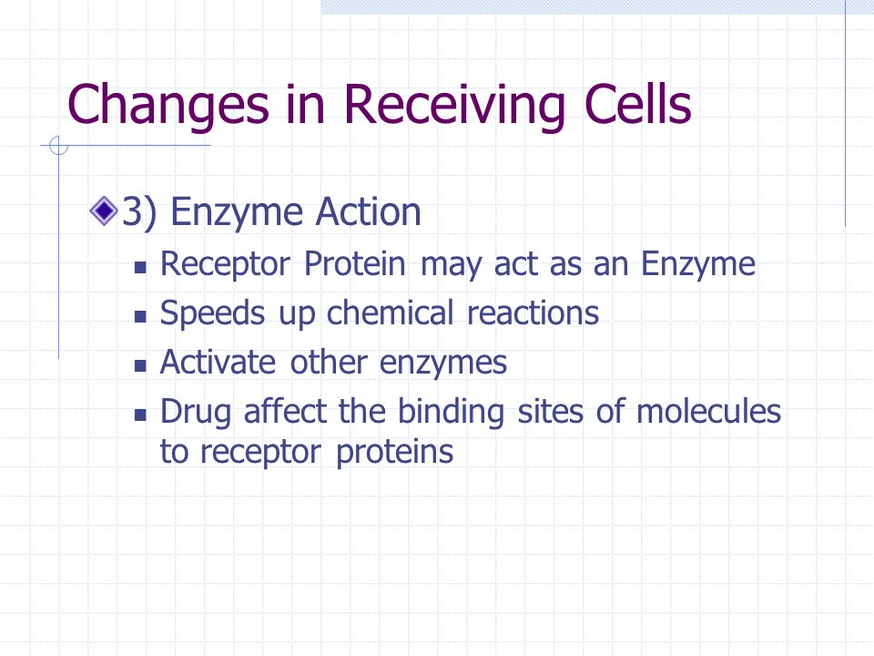 Changes in Receiving Cells
