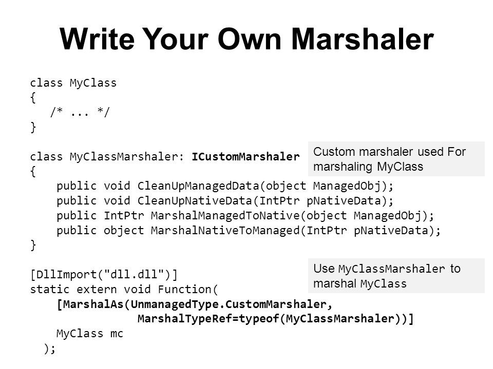 Write Your Own Marshaler