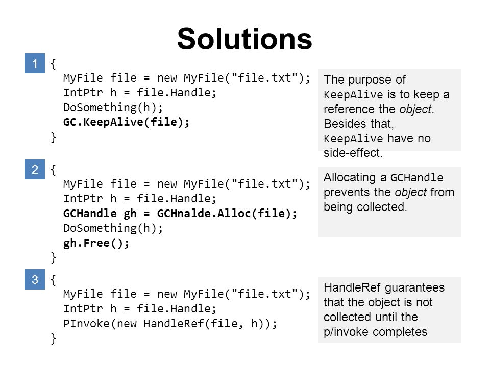 Solutions 1 { MyFile file = new MyFile( file.txt );