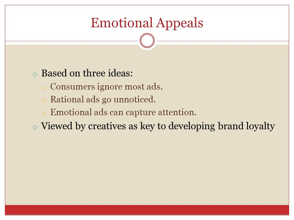 emotional based advertisement One recent article argues and finds that emotional (analogous to affective in this article) appeals do not drive as much attention as reason-based, the power of emotional appeals in advertising the help extend our thinking on the role of emotional appeals in advertising as they.