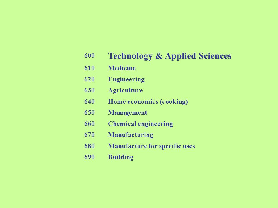 Technology & Applied Sciences