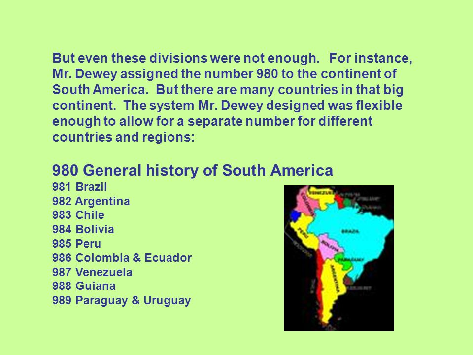 980 General history of South America