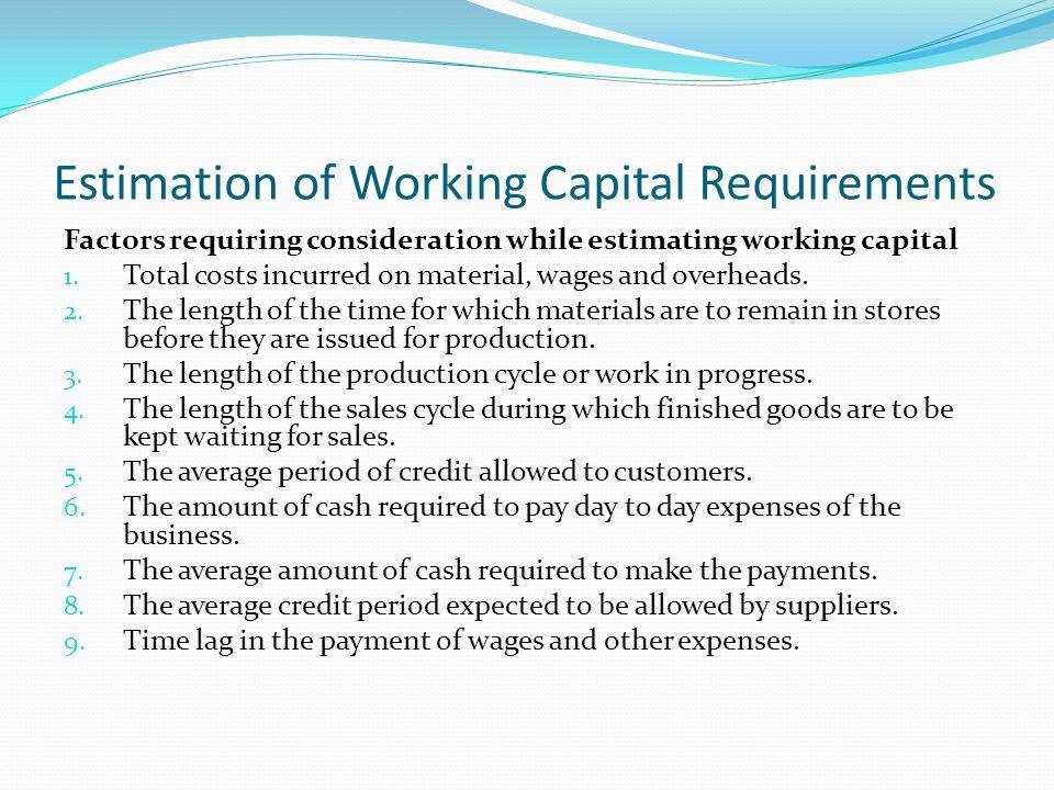 FINANCIAL MANAGEMENT Mehernosh Randeria ppt download – Format of Working Capital