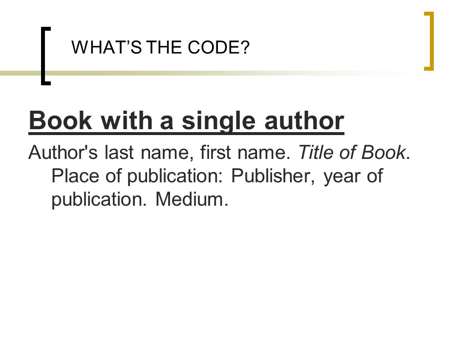 Book with a single author