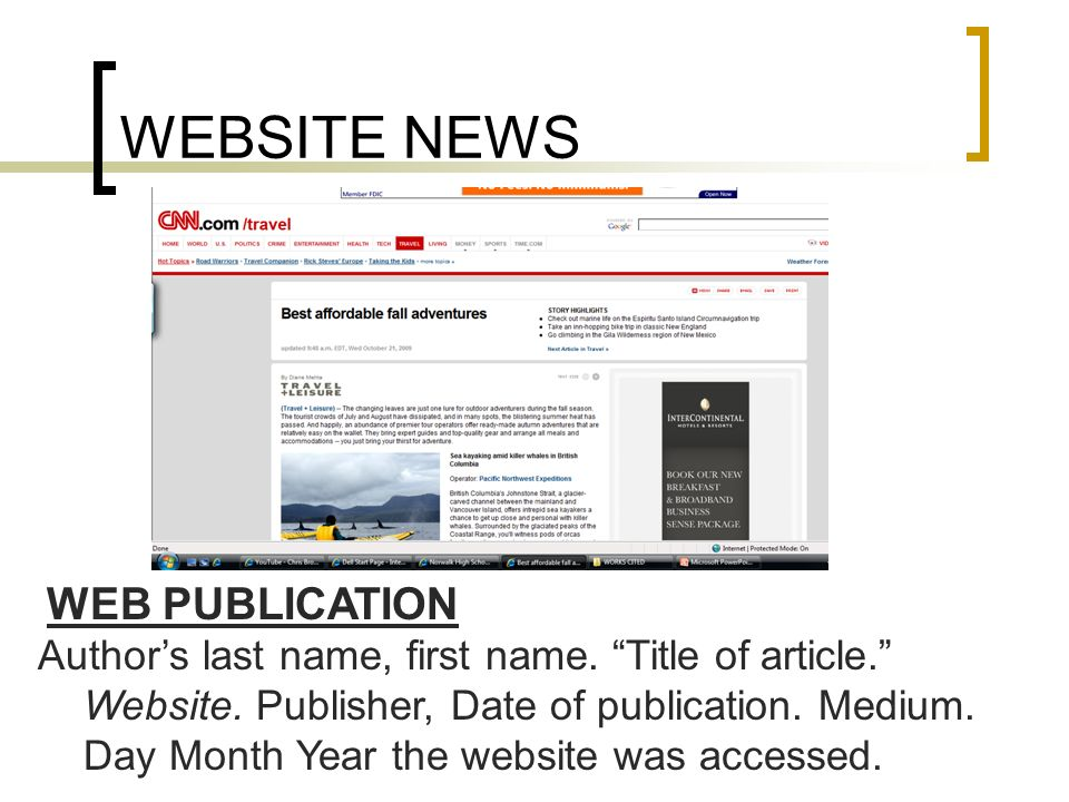 WEBSITE NEWS WEB PUBLICATION