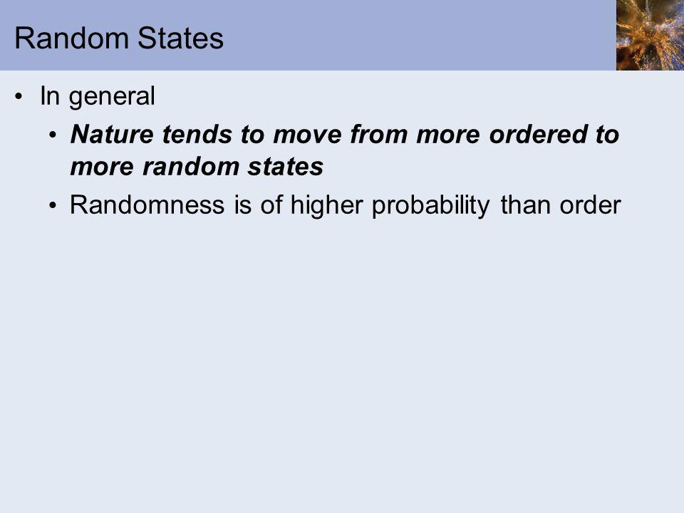 Random States In general