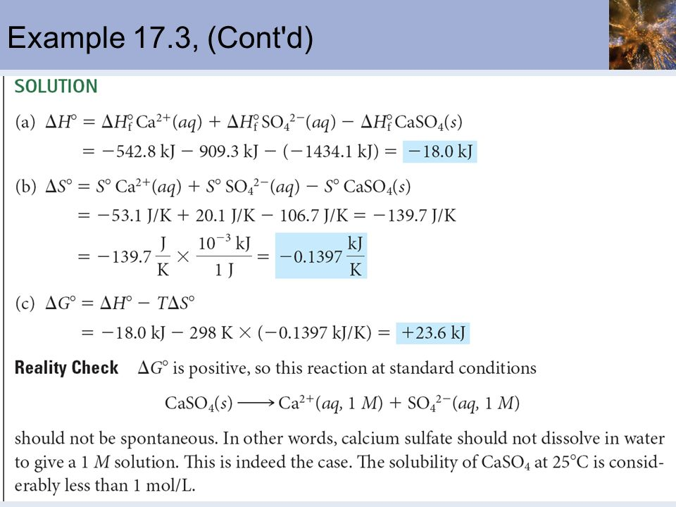Example 17.3, (Cont d)