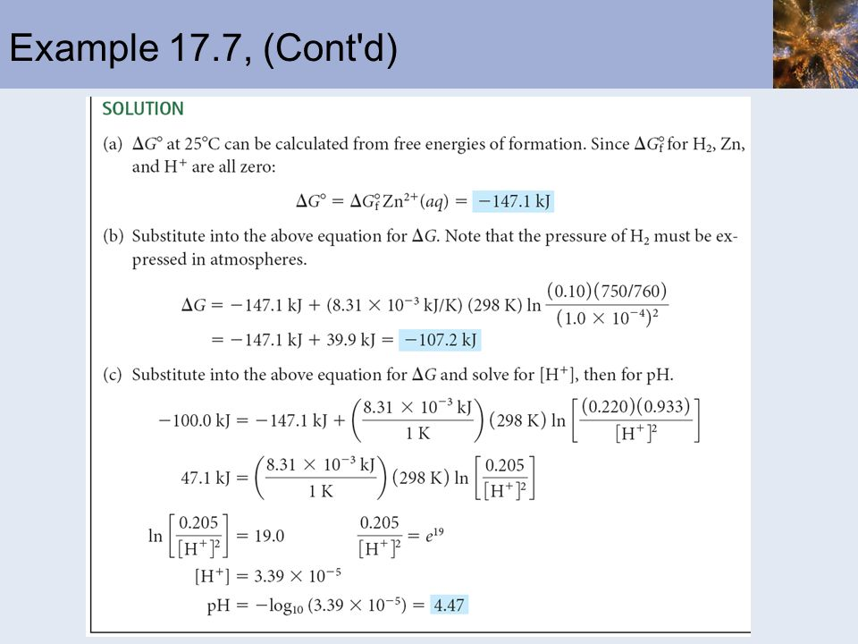 Example 17.7, (Cont d)