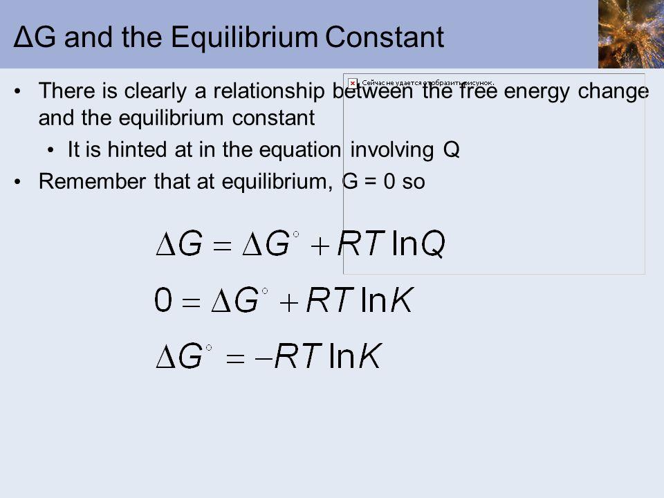 ΔG and the Equilibrium Constant
