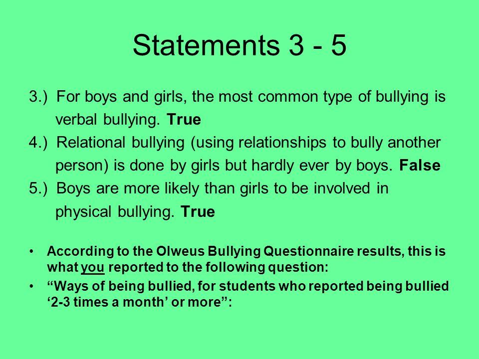 bullying and relationship scale