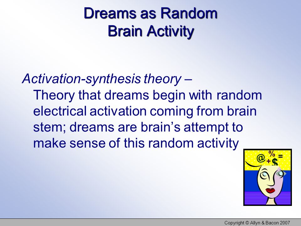 Dreams as Random Brain Activity