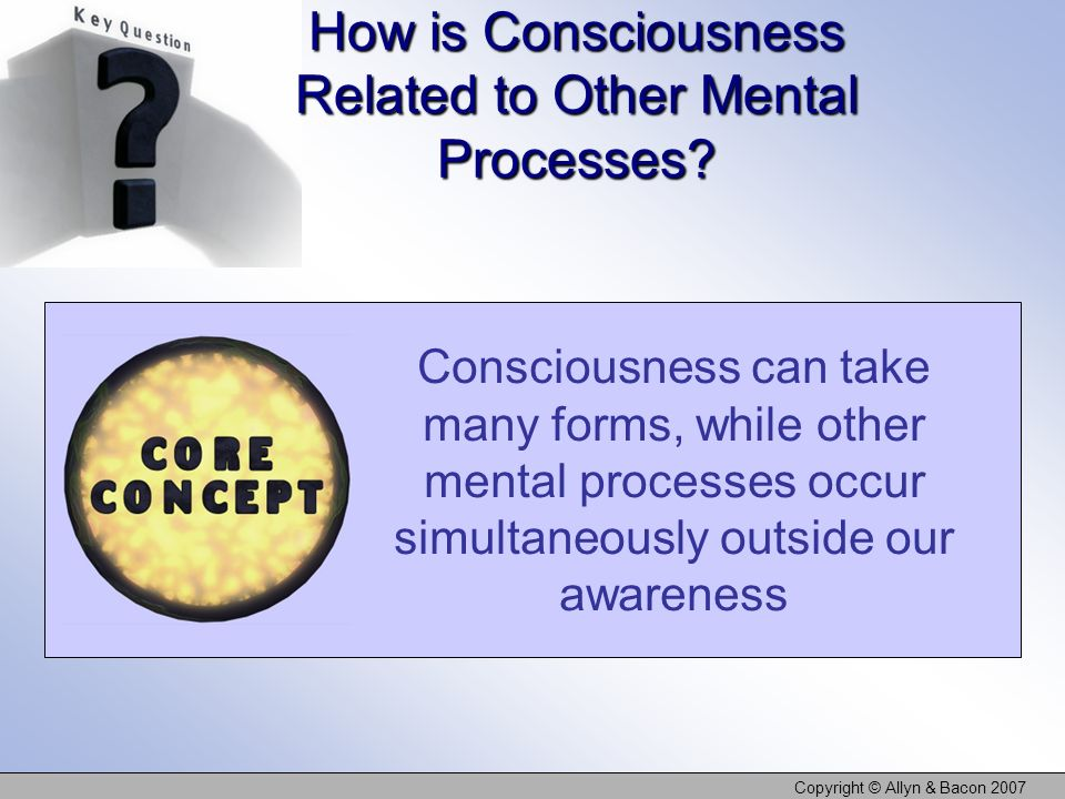 How is Consciousness Related to Other Mental Processes