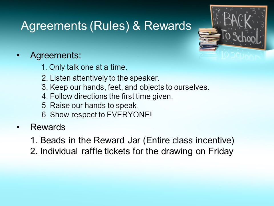 Agreements (Rules) & Rewards