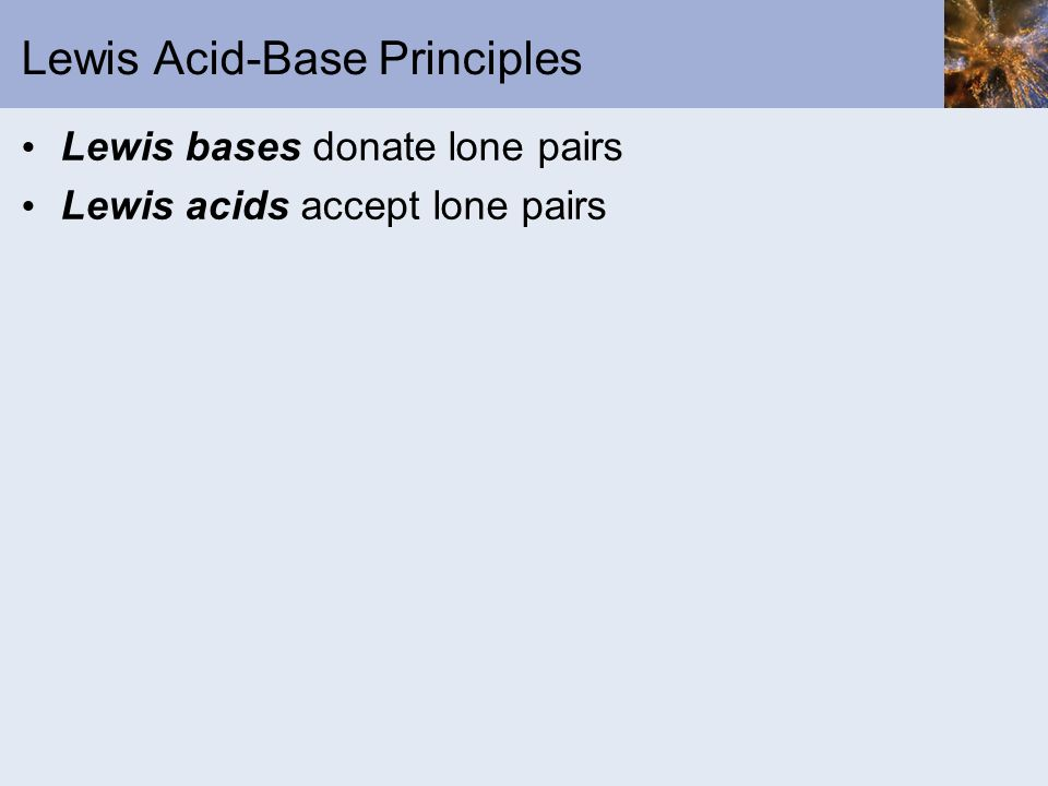 Lewis Acid-Base Principles