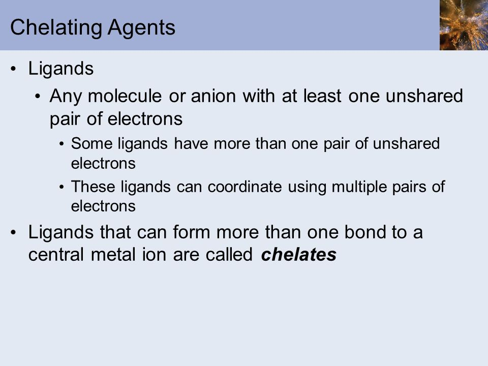 Chelating Agents Ligands