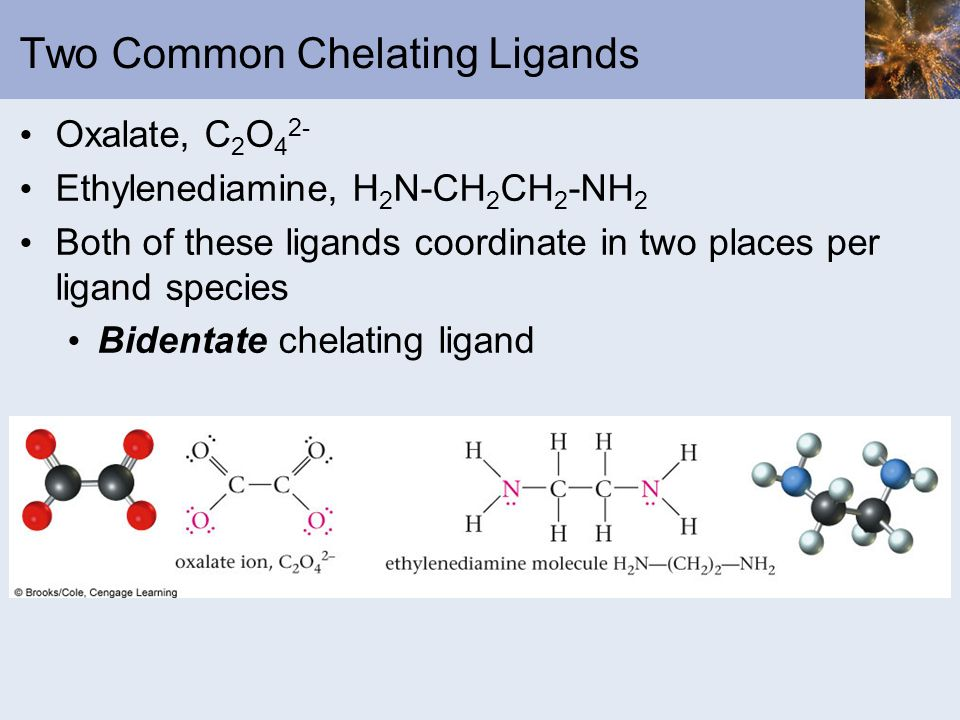 Two Common Chelating Ligands