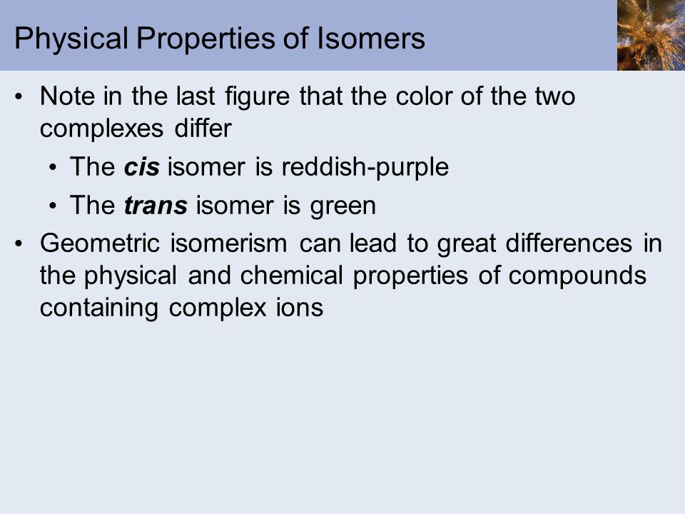Physical Properties of Isomers