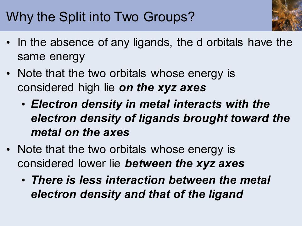 Why the Split into Two Groups