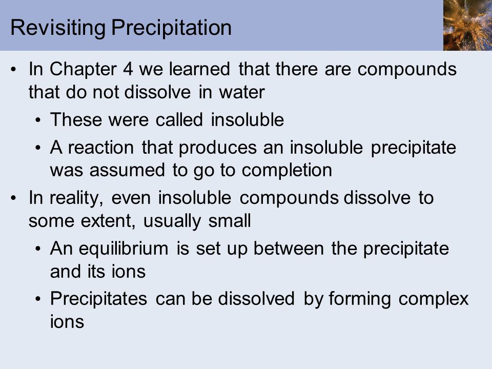 Revisiting Precipitation