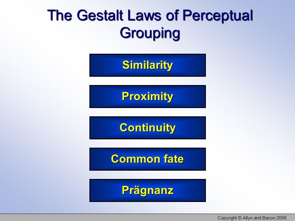 The Gestalt Laws of Perceptual Grouping