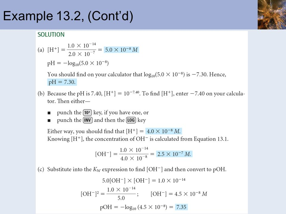 Example 13.2, (Cont'd)