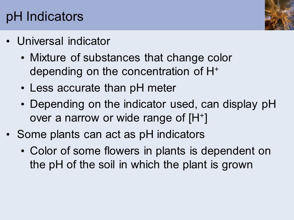 pH Indicators Universal indicator