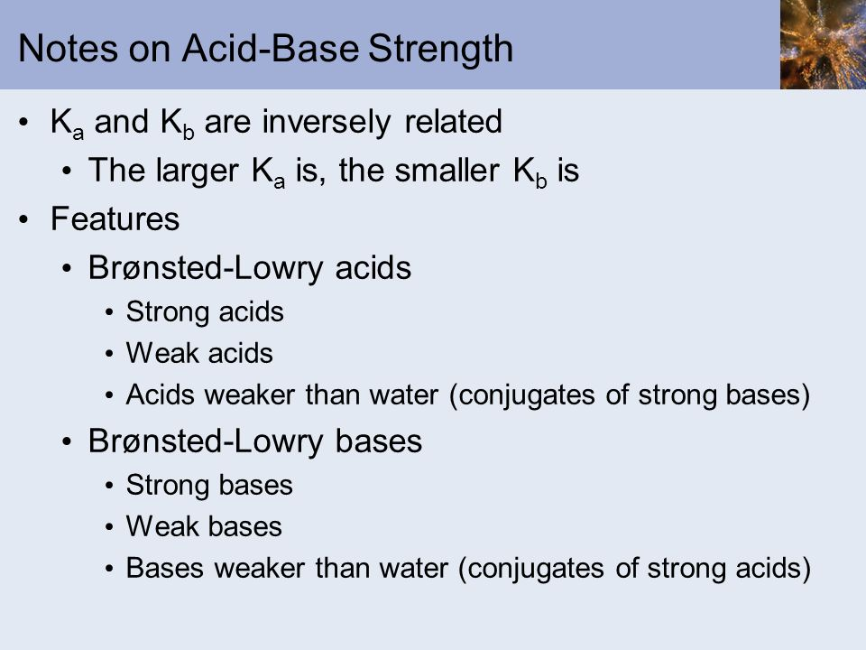 Notes on Acid-Base Strength