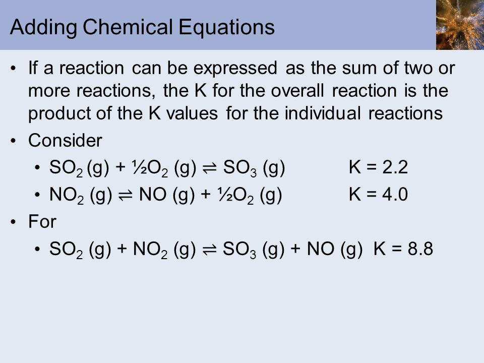 Adding Chemical Equations