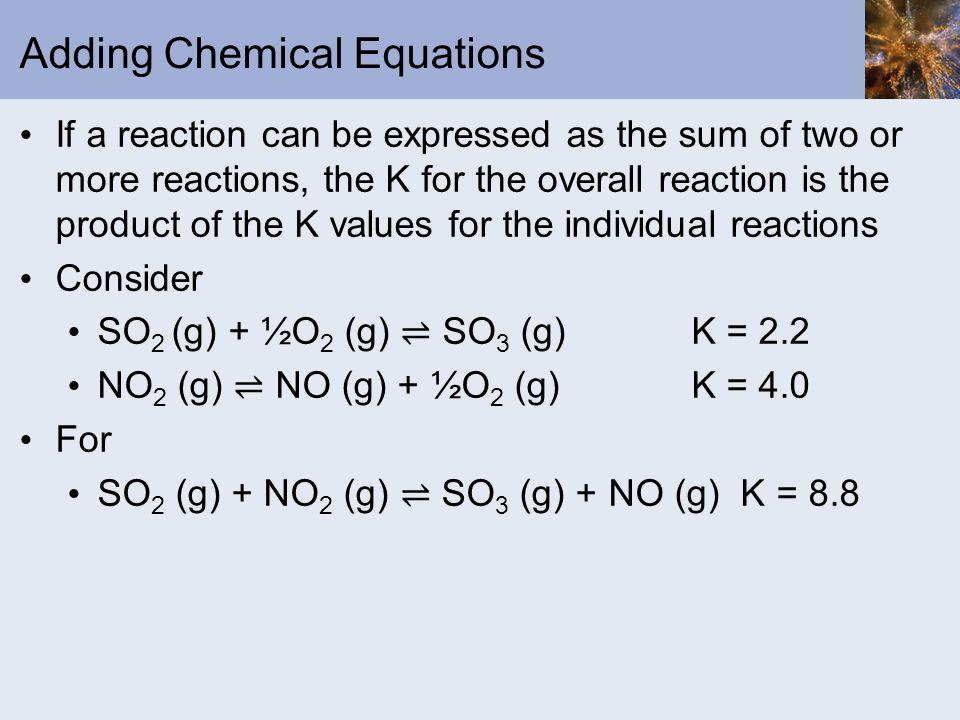 Adding Chemical Equations