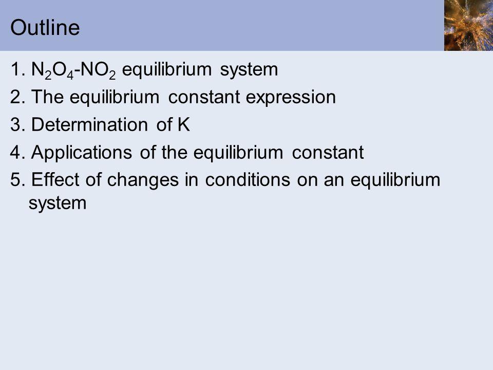 Outline 1. N2O4-NO2 equilibrium system
