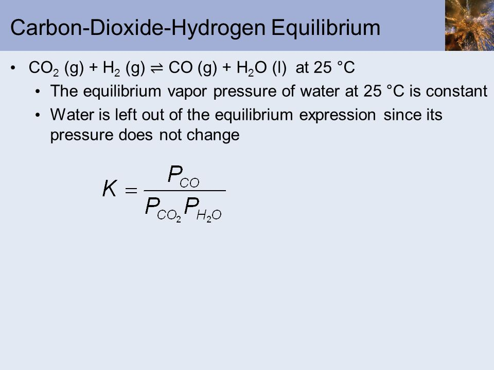 Carbon-Dioxide-Hydrogen Equilibrium