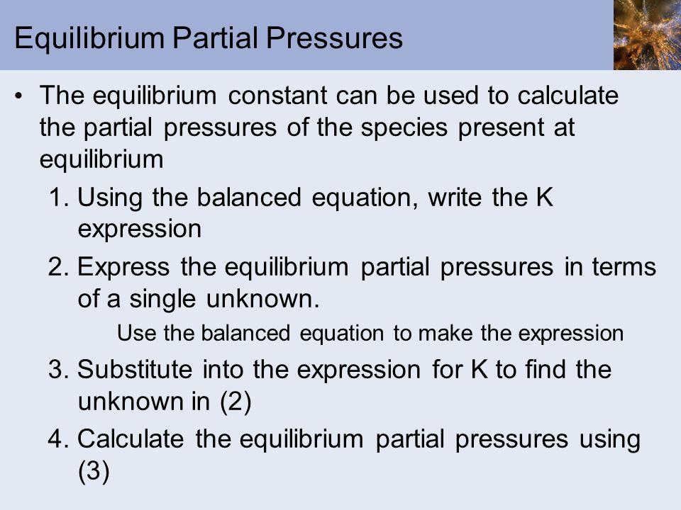 Equilibrium Partial Pressures