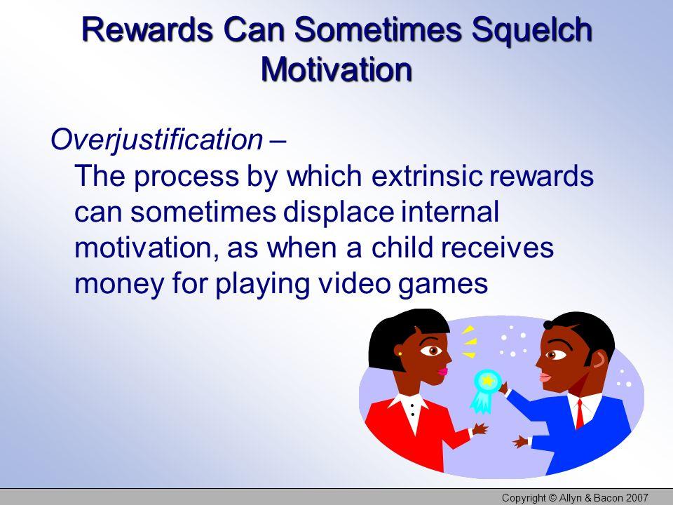 Rewards Can Sometimes Squelch Motivation