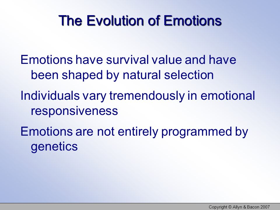 The Evolution of Emotions