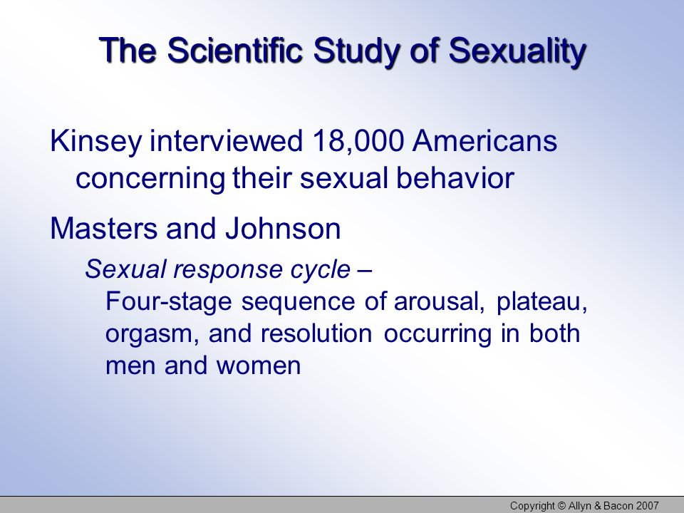 The Scientific Study of Sexuality