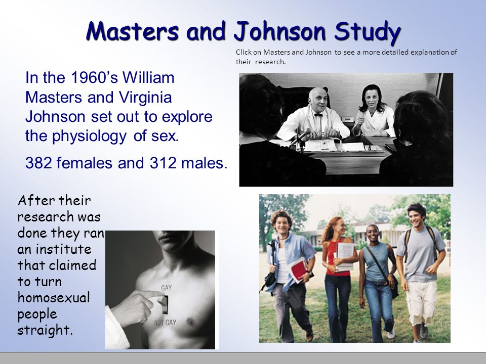 Masters and Johnson Study