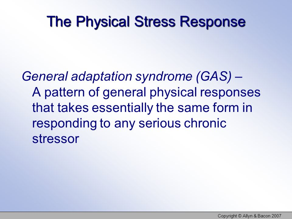 The Physical Stress Response