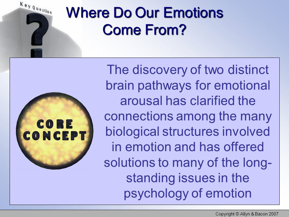 Where Do Our Emotions Come From