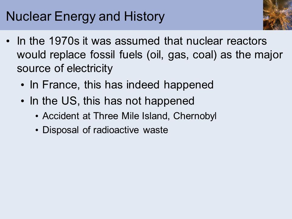 Nuclear Energy and History