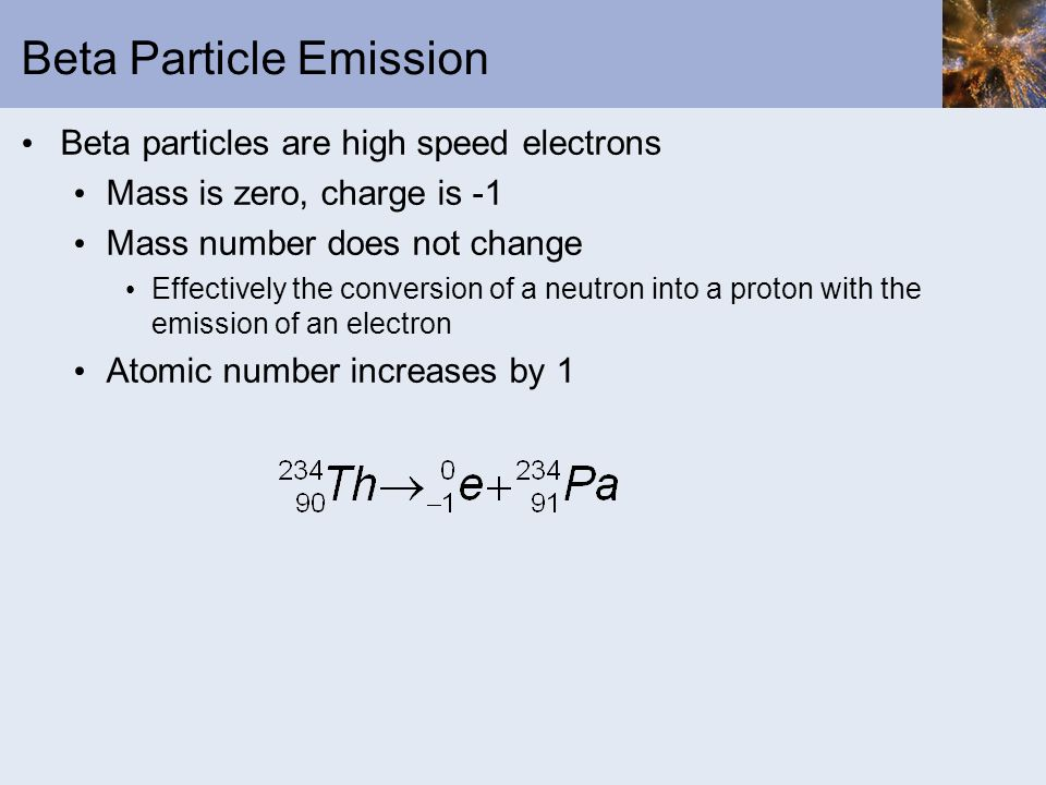 Beta Particle Emission